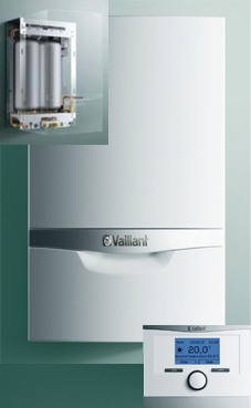 VAILLANT ECOTEC PLUS 246 24 KW (VMW ES 246/5-5) con actoSTOR VIH CL 20 S con plantilla y kit evac.PP
