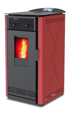LASIAN LASCAR de  3,9 a 8,2 Kw. calentamiento mediante aire de 8,2 KW de potencia térmica máxima. Capacidad de calentamiento de 140 m3 (modelos en burdeos, negra, gris y beige)  con mando a distancia.