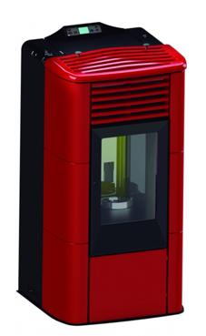FERROLI TERMO ORIONE de 17,04 Kw. de poténcia, consumo 3,92 Kg/hora, volumen del depósito 22 kg. Rendimiento 97,41%, de acero con tapa superior en maiolica , para calefactar estancias de hasta 145 m2 con mando a distancia incluido.